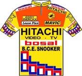 Hitachi - Bosal - B.C.E. Snooker 1988 shirt
