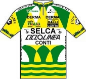 Selca - Ciclolinea - Conti 1988 shirt