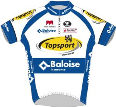 Topsport Vlaanderen - Baloise 2013 shirt