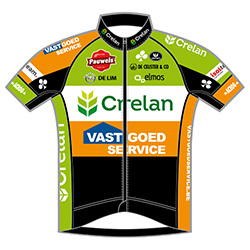 Crelan - Vastgoedservice Continental Team 2016 shirt